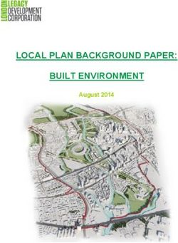 LOCAL PLAN BACKGROUND PAPER: BUILT ENVIRONMENT