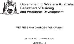 VET FEES AND CHARGES POLICY 2015 EFFECTIVE: 1 JANUARY 2015