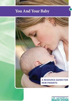 You And Your Baby a resource guide for new parents