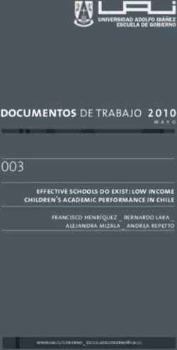 003 effective schools do exist: low income children's academic performance in chile