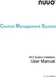 User Manual - NCS System Installation
