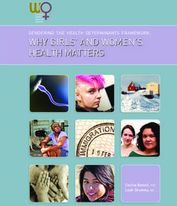 Why Girls' and women's health matters