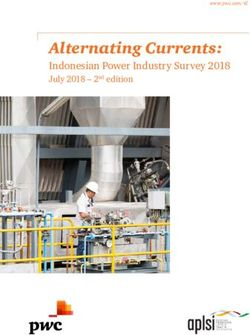 Alternating Currents: Indonesian Power Industry Survey 2018 July 2018 - 2nd edition