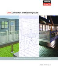 Deck Connection and Fastening Guide