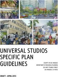UNIVERSAL STUDIOS SPECIFIC PLAN GUIDELINES