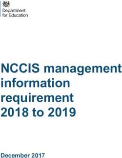 NCCIS management information requirement 2018 to 2019