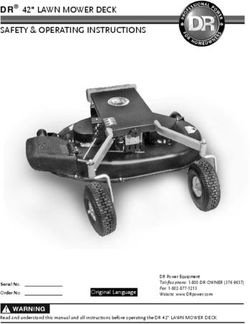 "DR 42"" LAWN MOWER DECK - SAFETY & OPERATING INSTRUCTIONS"