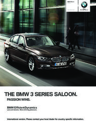 THE BMW SERIES SALOON. - PASSION WINS.