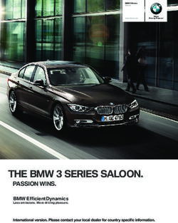 THE BMW SERIES SALOON. PASSION WINS.