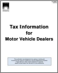 Tax Information - for - Motor Vehicle Dealers