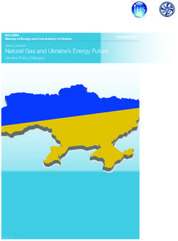 Natural Gas and Ukraine's Energy Future Ukraine Policy Dialogue