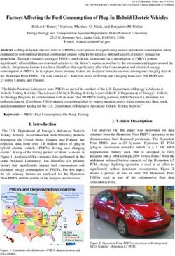 Factors Affecting the Fuel Consumption of Plug-In Hybrid Electric Vehicles