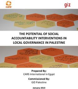 THE POTENTIAL OF SOCIAL ACCOUNTABILITY INTERVENTIONS IN LOCAL GOVERNANCE IN PALESTINE