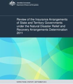 Review of the Insurance Arrangements of State and Territory Governments under the Natural Disaster Relief and Recovery Arrangements Determination 2011
