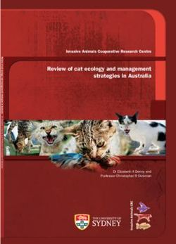 Review of cat ecology and management strategies in Australia