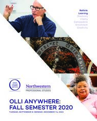 OLLI ANYWHERE: FALL SEMESTER 2020 - Rethink Learning Discovery Vitality ...