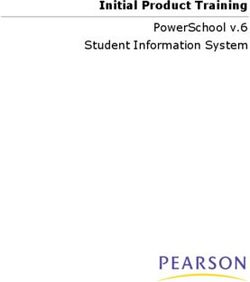 Initial Product Training PowerSchool v.6 Student Information System