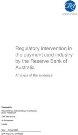 Regulatory intervention in the payment card industry by the Reserve Bank of Australia