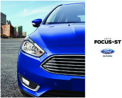 Ford Focus ST 2015. Brochure.