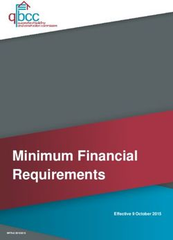 Minimum Financial Requirements