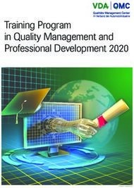 Training Program in Quality Management and Professional Development 2020 - ...