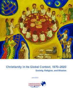Christianity in its Global Context, 1970-2020