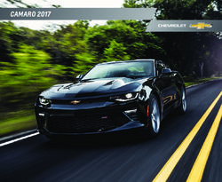 Chevrolet Camaro 2017 Catalog