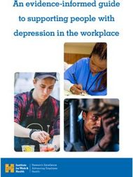 An evidence-informed guide to supporting people with depression in the workplace