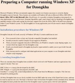 Preparing a Computer running Windows XP for Dzongkha
