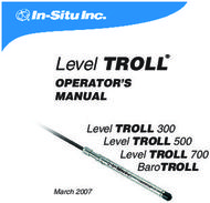 Level TROLL - OPERATOR'S MANUAL