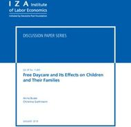 Free Daycare and Its Effects on Children and Their Families