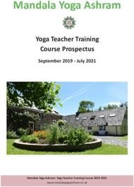 Mandala Yoga Ashram - Yoga Teacher Training Course Prospectus