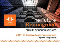 2017/18 Postgraduate Programmes - Degrees & Diplomas