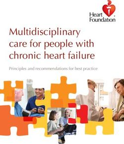 Multidisciplinary care for people with chronic heart failure