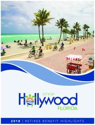 2018 retiree benefit highlights - Hollywood, FL