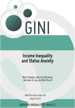 Income Inequality and Status Anxiety