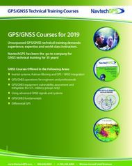 GPS/GNSS Courses for 2019 - Unsurpassed GPS/GNSS technical training demands experience, expertise and world-class instructors.