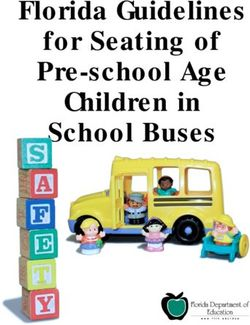 Florida Guidelines for Seating of Pre-school Age Children in School Buses