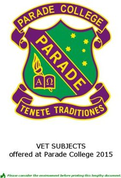 VET SUBJECTS offered at Parade College 2015