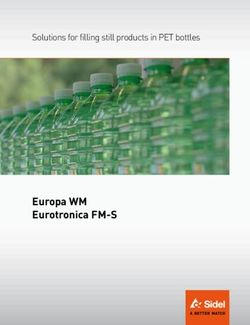 Europa WM Eurotronica FM-S Solutions for filling still products in PET bottles