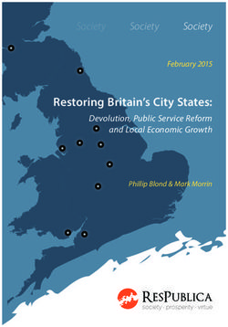 Restoring Britain's City States: Devolution, Public Service Reform and Local Economic Growth