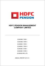 HDFC PENSION MANAGEMENT COMPANY LIMITED