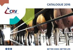 CRV Ambreed. Catalogue 2016. Better Cows Better Life.