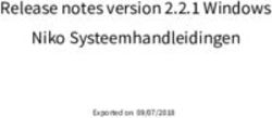 Release notes version 2.2.1 Windows Niko Systeemhandleidingen