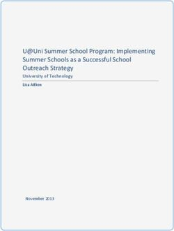 U Uni Summer School Program: Implementing Summer Schools as a Successful School Outreach Strategy
