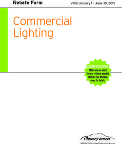 Commercial Lighting Rebate Form LIMITED TIME BONUS