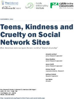 Teens, Kindness and Cruelty on Social Network Sites