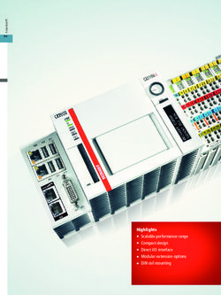 Embedded PC Modular DIN rail IPCs and Industrial Motherboards - Beckhoff