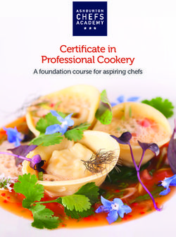 Certificate in Professional Cookery - Ashburton Chefs Academy