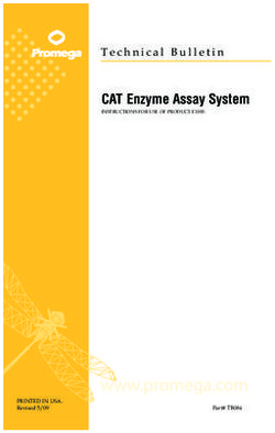 CAT Enzyme Assay System PRINTED IN USA.